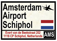 STREET / ROAD SIGNS (AMSTERDAM AIRPORT) - SOUVENIR NOVELTY FRIDGE MAGNET - GIFTS