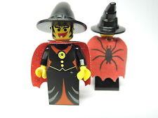 Lego Figur Castle Fright Knight Schwarze Hexe cas032 + Umhang   6097 6087 6037