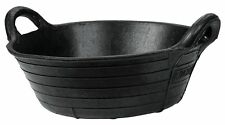 ProStable Flexible Black Tyre Rubber Feed Skip - Horse/Pony Feeding 11L