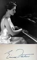 Pianist EUNICE NORTON Hand SIGNED AUTOGRAPH + PHOTO + DECORATIVE MAT Piano