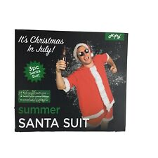 Santa Suit Claus Nifty Gift Short Christmas In July Adult Size Standard 3 Pieces