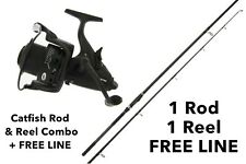 NGT Dynamic Catfish Rod & XPR 60 Baitrunner Reel Combo + Free Line & Delivery