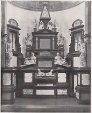D6334 Piacenza - San Sisto - Monumento a Margherita d'Austria - 1933 old print