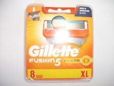 GILLETTE FUSION5 POWER BLADES 8 PACK NEW & SEALED 100% GENUINE FREEPOST