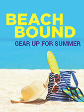 "Beach Bound Apparel Footwear Retail Display Sign, 18""w x 24""h, Full Color"