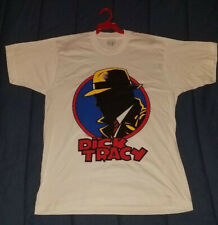 Vintage New Disney Dick Tracy Movie Silhouette White Adult T Shirt - Xl