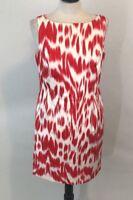 Jones New York Women's Red/White Sleeveless Sheath Career Dress Size 12