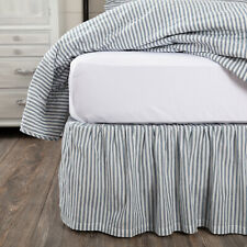 Vhc Sawyer Mill Bed Skirt Dust Ruffle King Queen Twin Farmhouse Stripe 3 Colors