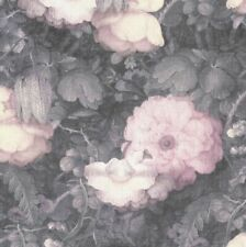 Pink and Grey Romatic Dutch Floral Watercolour Effect Wallpaper - 10m Roll