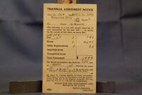 US Postal Mailing Card, Scranton PA Triennial Assessment Notice 1932 Tax Hearing
