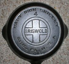 GRISWOLD #4 LARGE BLOCK LOGO #702A Cast Iron SKILLET (HTF)