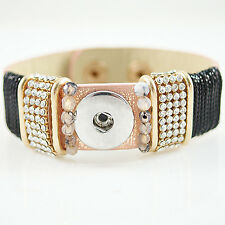 CLASSIC SNAPS  WIDE COPPER COLORED LEATHER BRACELET