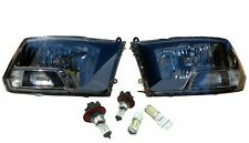 Black Headlights Lamps & Replacement Bulbs Left Right Lights for 09-18 Dodge Ram