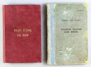 RAF & IMPERIAL AIRWAYS PILOT LOG BOOKS 1925 - 1939 NO.25 SQUADRON FLYING BOATS