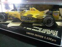 1/43 Jordan Ford EJ13 B&H LAST WIN 2003 Fisichella Brazil Ltd Ed Minichamps