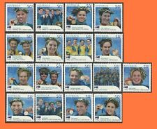 2004 Olympic Games Athens Australia Gold Medalists Complete Set of 17 MNH