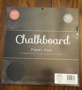 """Chalkboard paper pad Black 12""""X12"""" 36/PKG  DCWV"""