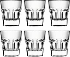 Circleware Scorchers Shot Glass Set of 6 Pcs 1.5 oz Clear Heavy Base Glassware
