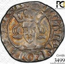 FINEST & ONLY @ NGC & PCGS AU53 1344 1D SILVER PENNY EDWARD III ENGLAND TONED