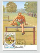 S. TOME MK 1984 OLYMPIA USA LA OLYMPICS HÜRDENLAUF CARTE MAXIMUM CARD MC CM m273