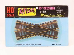HO Scale Atlas #142 Custom Line 25 Degree Brass Crossing Track - Sealed