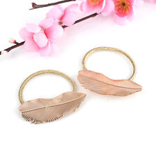 2Pcs Women Lady Hair Band Rope Holder Leaf Headband Ponytail Elastic Accessories