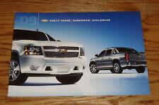 Original 2009 Chevrolet Tahoe Suburban & Avalanche Sales Brochure 09 Chevy