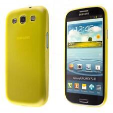 Samsung Galaxy S3 i9300 custodia protettiva morbida giallo case cover sottile