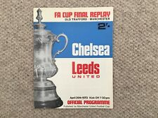 More details for 1970 fa cup final replay. chelsea v leeds utd.  @ old trafford.   vgc