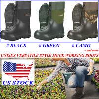 HISEA Unisex Waterproof Garden Boots Beathable Rain Muck Working & Hunting Boots