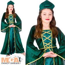 Kids Bambino Juliet ROMEO MEDIEVALE Costume Vestito Età 5-10