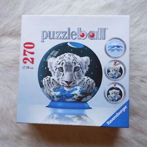 Ravensburger PUZZLEBALL 2011 270 Pieces 16cm 3D Schimmel - White Tigers ANIMALS