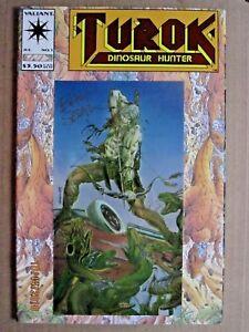 1993 VALIANT COMICS TUROK, DINOSAUR HUNTER #1 CHROMIUM EMBOSSED COVER SIGNED
