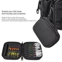 Portabale Fly Fishing Hook Storage Bag Bait Lure Box Fishing Tool Tackle Case BG