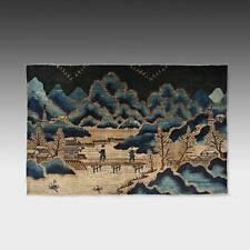 ANTIQUE MONGOLIAN WOOL PILE RUG LANDSCAPE CARPETS LATE 19TH C.