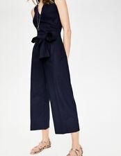 BNWT Boden Linen/Cotton Wrap Jumpsuit UK 18 (US 14 EU 44 46) Navy