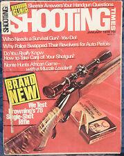 Vintage Magazine SHOOTING TIMES, January 1974 !!BROWNING '78 Single-Shot RIFLE!!