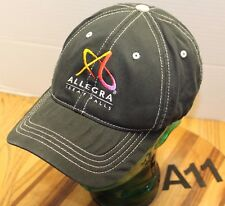 ALLEGRA PROMOTIONAL PRODUCTS GREAT FALLS MONTANA HAT BLACK SIZE S/M GUC A11