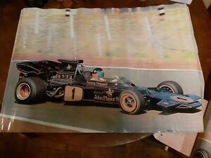 Emerson Fittipaldi 1973 JPS poster Formula 1 no.3 Mobil collection very rare