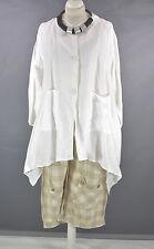 FAB GERMAN CHAMPAGNE WHITE layering ASYMMETRIC  jacket  size XL/XXL