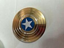 EDC Fidget Spinner Finger Desk Spinner Focus Toys Captain America Shape gold