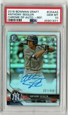 2018 BOWMAN DRAFT ANTHONY SEIGLER 1ST PROSPECT REFRACTOR AUTO /499 PSA 10 [SY]