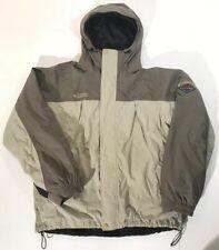 Columbia Omni Tech Waterproof Jacket W/ Zip Out Liner Men's L Beige Gray