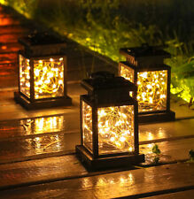 3Pcs Solar Power Lantern Hanging Light Waterproof Outdoor Led String Lamp Decor