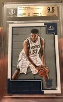 Karl Anthony Towns Rookie Card NBA Hoops Gem Mint 9.5 With 10 Sub BGS Beckett