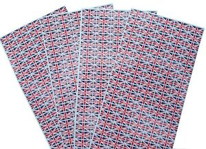 """250 > 1000 Small Union Jack Stickers With / Without Text """"Made In Britain"""""""