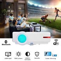5000 Lumens Videoprojecteur WIFI Android 4K Bluetooth FULL HD LED 1080P Natif 3D