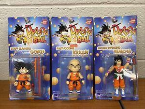 NOS Vintage 1995 Dragon Ball Z Goku Krillin Yamcha Bandai Action Figure Lot