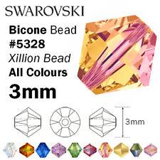 SWAROVSKI Crystal Bicone Xilion Beads 5328 - 3mm - All colours