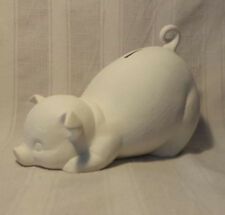 """Piggy Bank 8"""" ready to paint ceramic bisque"""
